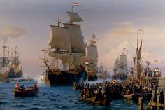Dutch warships and Danish sailors during the Scanian War