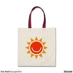 Sun Smile Canvas Bags