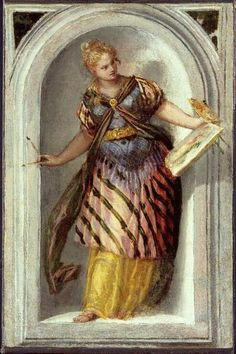 The Muse of Painting by Paulo Veronese, Villa Barbaro