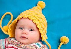 Neulo vauvalle palmikkopipo | Kodin Kuvalehti Knitting For Kids, Baby Knitting, Knit Crochet, Crochet Hats, Knitwear, Sewing, Knits, Puppies, Babies