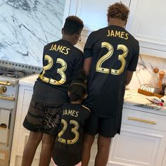 """LeBron James posts photo of his three kids in """"23 James"""" LAFC jerseys on Instagram... all three are US-eligible."""