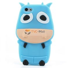 Blue Lovely 3D Cow Soft Silicone Back Case for iPhone 5c