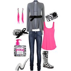 Pink and Zebra!  YES!