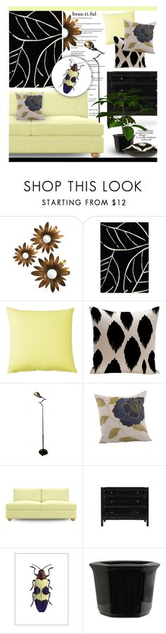 """""""Insect Inspiration ~ Beautful Bugs"""" by josie-girl ❤ liked on Polyvore featuring interior, interiors, interior design, home, home decor, interior decorating, Howard Elliott, Couristan, Saro and Joybird"""