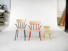 bernstrand & co. designs brightly painted bollnäs chairs for public use