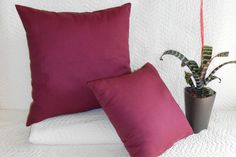 Organic Wool Throw Pillows & Organic Cotton Bolsters
