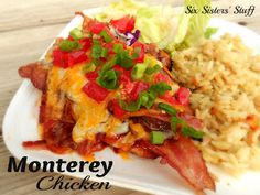 Six Sisters' Stuff: Monterey Chicken. My favorite kind of chicken! Turkey Recipes, Mexican Food Recipes, Chicken Recipes, Baked Chicken, Chicken Bacon, Grilled Chicken, Fall Recipes, Monterey Chicken, Recipe Using Chicken