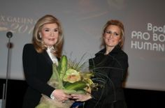 Prix Galien Greece Awards 2013 - Marianna Bardinogianni and Jenny Pergaliotou (President of Prix Galien Greece)