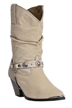Dingo Boots for women are western dancing boots with cowgirl boot flair, slouch boots, harness detail, cowboy boot heel, short boot height