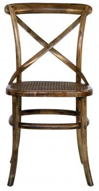 Flamant Chair Tonga, Birch, Antique Oak finish. A very lightweight chair w cane seat. Copper Strawberry with Flamant Home Interiors in the USA.