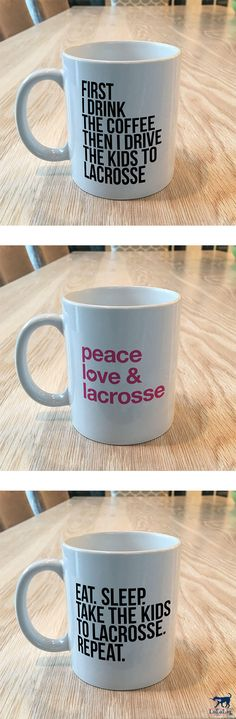 Celebrate the #lacrosselife with our new mugs. Perfect for a lacrosse mom, dad, coach or fan!