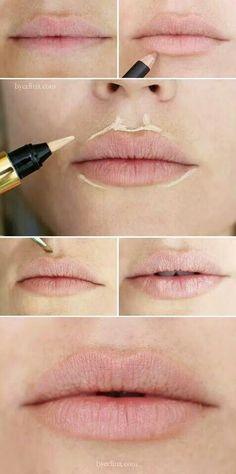 Truco para dar volumen a los labios
