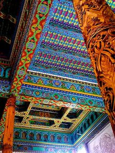 Boulder Dushanbe Teahouse  Ceiling detail of the amazing Boulder Dushanbe Teahouse in Boulder, Colorado.