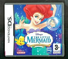 Disney& The Little Mermaid for Nintendo DS (plays in Video Games Xbox, Video Game Memes, Nintendo Ds Pokemon, Nintendo Games, Disney Little Mermaids, Ariel The Little Mermaid, Test Games, Console, Treasure Planet