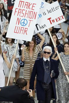 Leader of the pack: The Chanel show is one of the highlights of the fashion calendar and K...