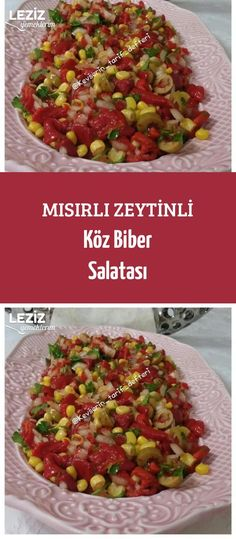 Mısırlı Zeytinli Köz Biber Salatası - Spiders Tutorial and Ideas Salmon Recipes, Fish Recipes, Turkish Recipes, Ethnic Recipes, Red Lentil Soup, Best Low Carb Recipes, Olive Salad, Roasted Peppers, Yummy Food