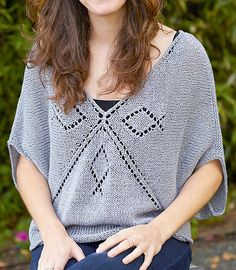 Free Knitting Pattern for Quadrant Top by Norah Gaughan - Free with free Creativebug trial. Designed by Norah Gaughan, this seamless pullover with lace motifs is knit from the center out so you stop knitting when you get to the size you want. Pattern and instructional video class available for free with a free trial at Creativebug OR purchase pattern and class individually.