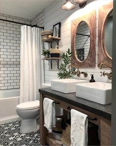 4 Far-Sighted Hacks: Affordable Bathroom Remodel Modern bathroom remodel bathtub tile.Bathroom Remodel Shower The Wall bathroom remodel traditional double sinks. Tiny Bathrooms, Beautiful Bathrooms, Modern Bathroom, Small Bathroom, Minimalist Bathroom, Modern Minimalist, Boy Bathroom, Bathroom With Double Vanity, Bathroom Interior
