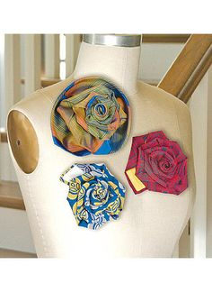 Turn-a-Tie Flowers | McCall's Patterns