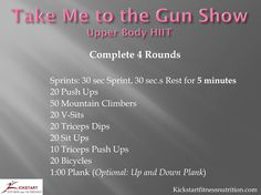 Tighten and tone your complete upper body HIIT workout - Sprint intervals OUCH! :)
