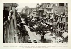 1920 Print Rio De Janeiro Avenida Branco Cityscape Historical Image View NGM5                                                                                                                                                                                 Mais