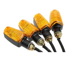 4Pcs/set 12V Universal Motorcycle Turn Signal Indicator Light Turning Amber Lamp Bulb Motorbike Lamps Blinker Flash Bike Lamp