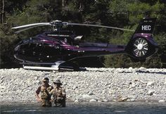 Fly fishing ..i know a spot ...but we will need a Eurocopter EC130 to get there .