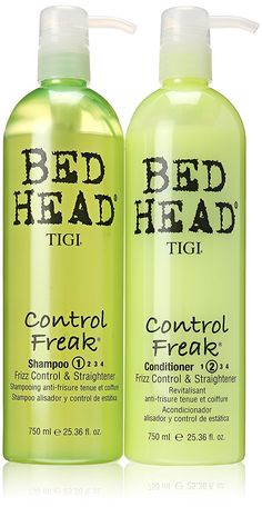 Tigi Bed Head Control Freak Shampoo Conditioner Frizz Control Straightener -- Check this awesome product by going to the link at the image. (This is an affiliate link) Hair Shampoo, Shampoo And Conditioner, Frizz Control, Best Shampoos, African American Hairstyles, Bed Head, Your Hair, Cool Hairstyles, Hair Care