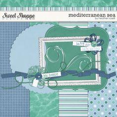 Mediterranean Sea tiny kit freebie from Heather Roselli #digiscrap #scrapbooking #digifree #scrap #freebie #scrapbook