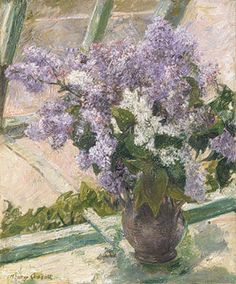 Mary Cassatt, Lilacs in a Window, 1880–1883