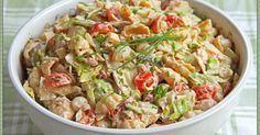 Tonnikala pastasalaatti. Kesähelteillä ateriaksi riittävät hyvin ruokaisat salaatit, koska kuumalla ei aina oikein lämmin, tuhti ruoka edes maita. Erilaiset pasta...