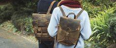 Canvas & Leather Rucksack by Scaramanga