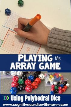 Looking for a fun, challenging way to practice area concepts? Try Looking for a fun and challenging way to practice area concepts? Try the array game using polyhedral dice! Easy Math Games, Dice Games, Mathematical Mindset, Maths Area, 8th Grade Math, Math Class, Math Challenge, Simple Math