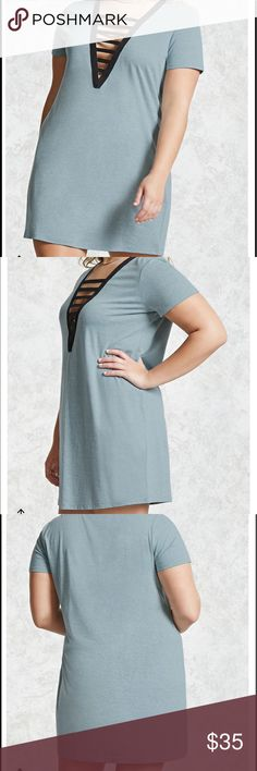 #Baby #Blue #Caged #Mini #Dress 2X NEW #Baby #Blue #Caged #Mini #Dress 2X NEW Dresses Mini