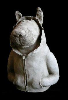 Sophie Favre, Jeune loup, h92 cm, détail
