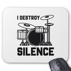 The Tempo Is Whatever I Say It Is Mouse Pad Custom office supplies Drums Logo, Vanity Plate, Office Parties, Logo Branding, Logos, Party Planning, Make It Yourself, Sayings, Business Logo