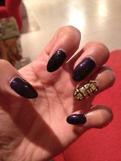 Oooo cadbury purple and gold studs ❤️
