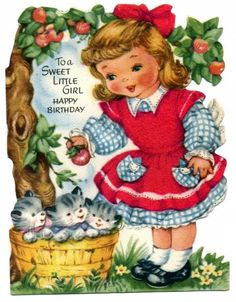 Vintage Children Birthday Card – Vintage Images Download