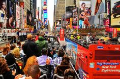 Double Deckers' meet at Times Square, NYC