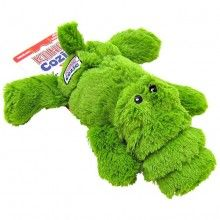KONG Cozie Ali The Green Gator Dog Toy - Dog Supplies