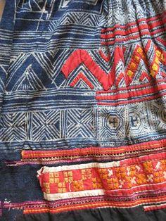 Miao-skirt-detail from Wangmo Co., Guizhou