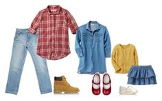 """""""Building On Blue"""" by bethanydarin on Polyvore featuring HUGO, Hollister Co., Timberland and TOMS"""