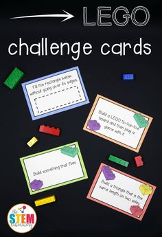 This giantcollection ofLEGO challenge cards is a simple prep, fun way to sneak some STEM (science, technology, engineering and math) learning into the day. With cards that range from easy to difficult, little engineers will love tackling the designs.Grab your set below and add them to a classroomcenter, engineering activity, homeschool lesson, or free play. There are so many ways to use these cards! This