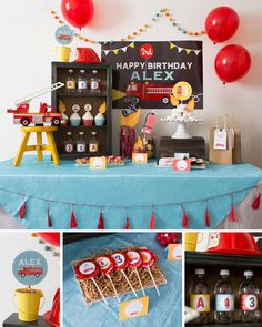Firetruck Party Firetruck Birthday Fireman Party Boy par maydetails