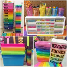 51 Ideas For Small Kids Room Organization Art Supplies Kids Room Organization, Classroom Organisation, Classroom Storage Ideas, Stationary Organization, Back To School Organization, Organizing Ideas, Preschool Classroom, Classroom Decor, Dollar Tree Classroom