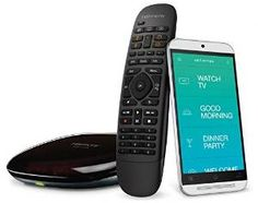 The included Harmony Hub relays commands from this Logitech Home Control remote or Harmony app to a wide variety of home devices, whether for home entertainment or home automation, using IR, Bluetooth, Wi-Fi and more. Home Automation System, Smart Home Automation, Xbox 360, Playstation, Harmony Hub, Cool Gadgets For Men, Fun Gadgets, Smartphone, Alexa Skills