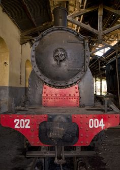 Old Steam Train In Asmara Train Station, Eritrea by Eric Lafforgue, via Flickr