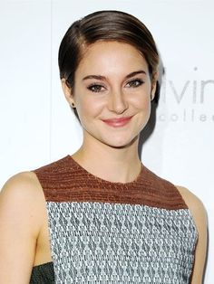 Shailene Woodley's slicked pixie hairstyle | allure.com