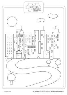 Cityscape Coloring Page City