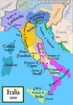 Italy 1000 AD - Duchy of Benevento - Wikipedia History Of Islam, World History, Italy Map, Italy Travel, Empire Romain, Holy Roman Empire, Thinking Day, Southern Italy, Old Maps